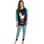 Dames Pyjamaset Lang Shirt + Legging I Believe Unicorn