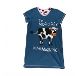 Dames Slaapshirt V-hals Moody In The Morning