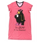 Dames Slaapshirt V-hals Bear in the Morning