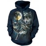 Moon Wolves Collage Dieren Hoodie