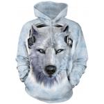White Wolf Dj Dieren Hoodie