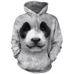 Big Face Panda Dieren Hoodie