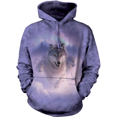 Northern Lights Wolf Hoodie
