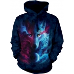 Where Light & Dark Meet Wolf Hoodie