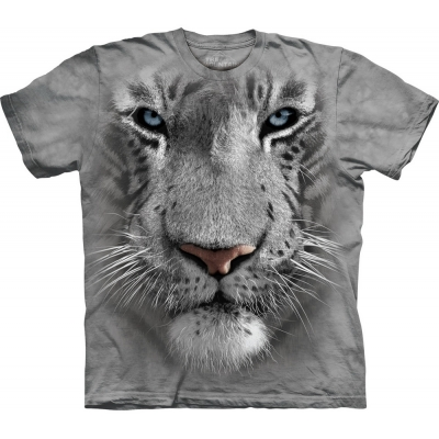 White Tiger Face Kindershirt