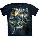 Moon Wolves Collage Kindershirt