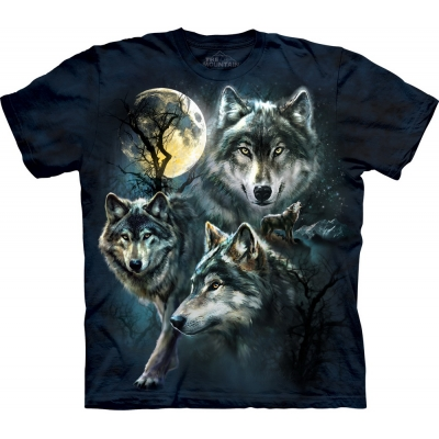 Moon Wolves Collage Kindershirt
