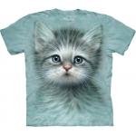Blue Eyed Kitten Katten Kindershirt