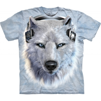 White Wolf Dj Wolf Kindershirt
