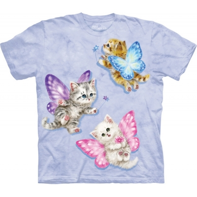Butterfly Kitten Fairies Katten Kindershirt