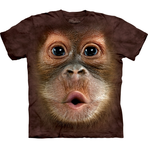 Big Face Baby Orangutan Aap Kindershirt