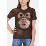 Big Face Baby Orangutan Aap Shirt