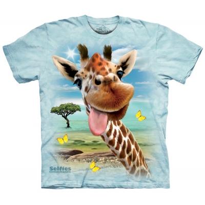 Giraffe Selfie Kindershirt