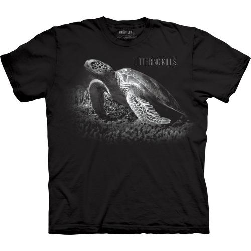 Turtle Littering Kills Schildpadshirt Kind