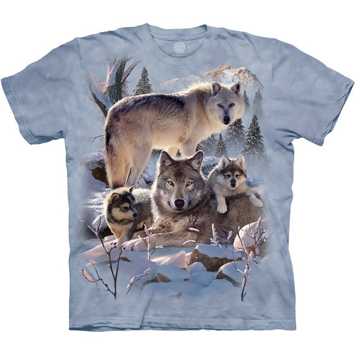 Wolf Family Mountain Kindershirt