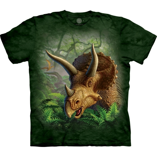 Wild Triceratops Portrait Kindershirt