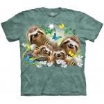 Sloth Family Selfie Luiaardshirt Kind