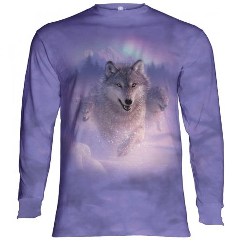Northern Lights Wolf Longsleeve