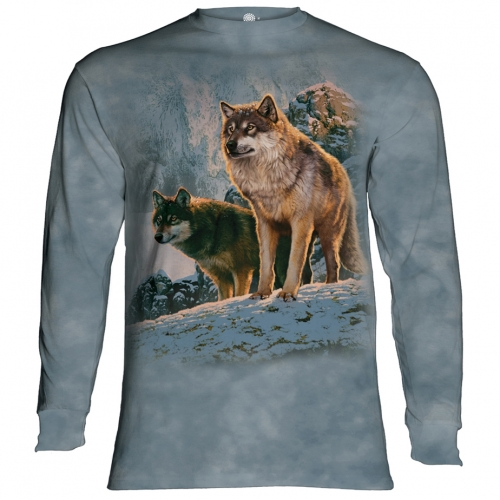 Wolf Couple Sunset Dieren Longsleeve