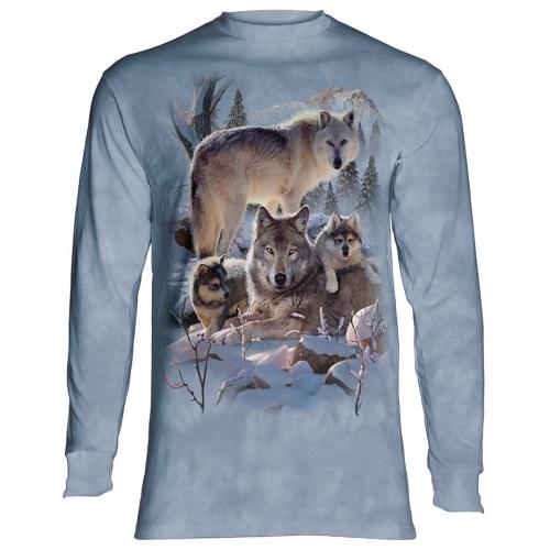 Wolf Family Mountain Dieren Longsleeve