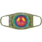 Peace Tie-Dye Mondmasker
