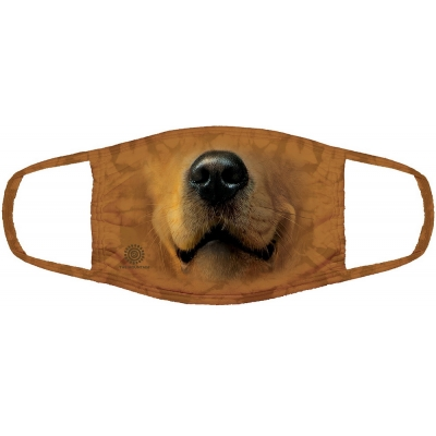 Golden Face Dog Mondmasker