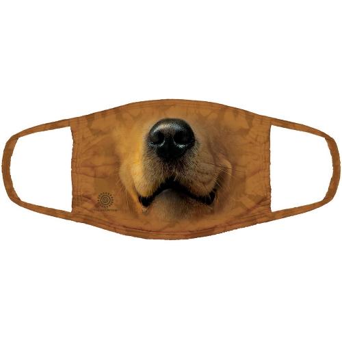 Golden Face Dog Mondmasker