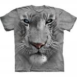 White Tiger Face Tijger Shirt