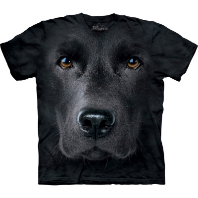 Black Lab Face Honden Shirt