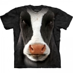 Black Cow Face Dieren Shirt