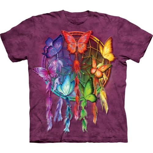 Rainbow Butterfly Dreamcatcher Vlindershirt