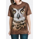 Great Horned Owl Head Uilenshirt