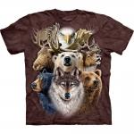 Northern Wildlife Collage Dieren Shirt