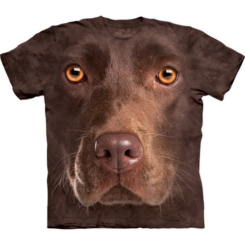 Chocolate Lab Face Honden Shirt