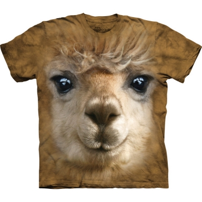 Big Face Alpaca Dieren Shirt