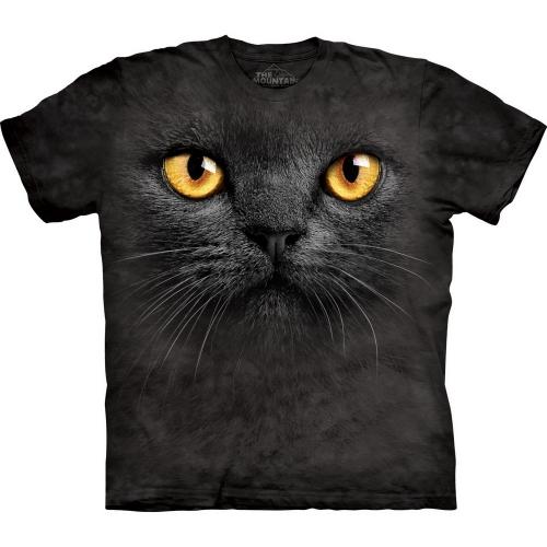 Big Face Black Cat Katten Shirt
