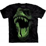 Big Face Glow Rex Dieren Shirt