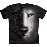 Black And White Wolf Face Shirt
