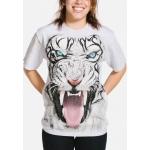 Big Face Tribal White Tiger Tijger Shirt
