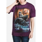 Fire And Ice Wolves Dieren Shirt
