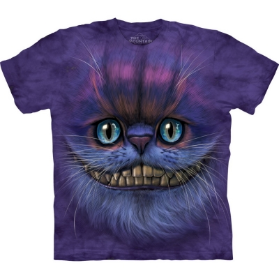 Big Face Cheshire Cat Katten Shirt