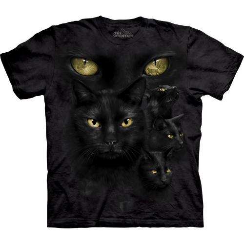Black Cat Moon Eyes Katten Shirt