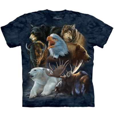Wild Alaskan Collage Dieren Shirt