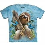 Sloth & Butterflies Dieren Shirt