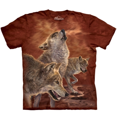 Red Glow Wolves Wolven Shirt