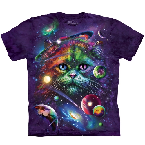 Cosmic Cat Katten Shirt