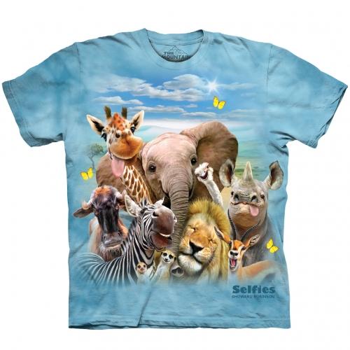 African Selfie Dieren Shirt