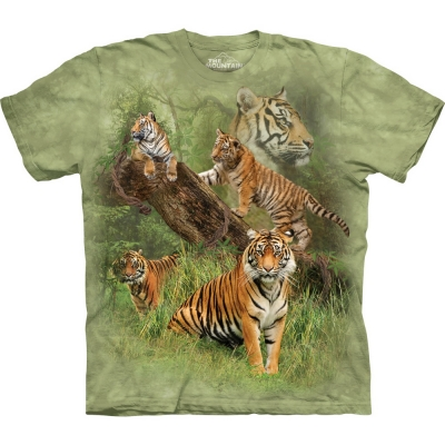 Wild Tiger Collage Tijgershirt