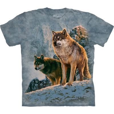 Wolf Couple Sunset Dierenshirt