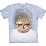 Cool Hipster Cat Kattenshirt